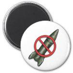 NO rockets 6 Cm Round Magnet