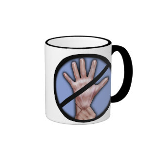 No rubber gloves! mug
