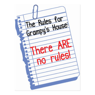 No Rules at Grampy's House Postcard