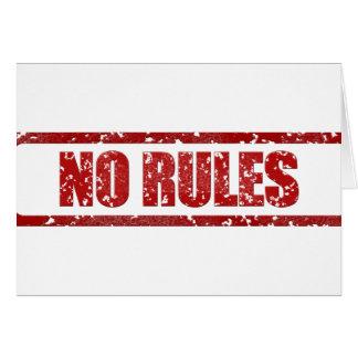 NO RULES GANGSTER GANGS WARNING REBELLION MOTTO AT GREETING CARD