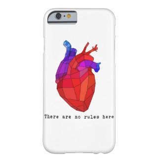 No Rules Heart Barely There iPhone 6 Case