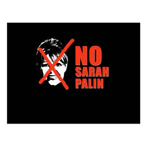 No Sarah Palin Post Cards