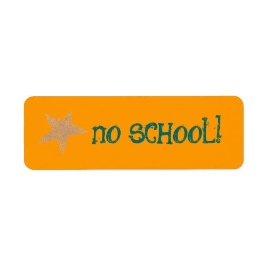 No school label return address label