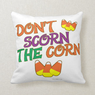 No Scorn for Candy Corn Cushion