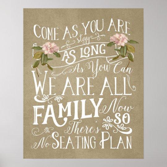 no seating plan wedding sign poster zazzle co uk