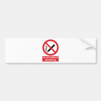 no secondhand smoking 001 bumper sticker