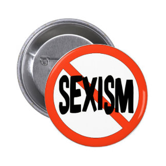 No Sexism 6 Cm Round Badge