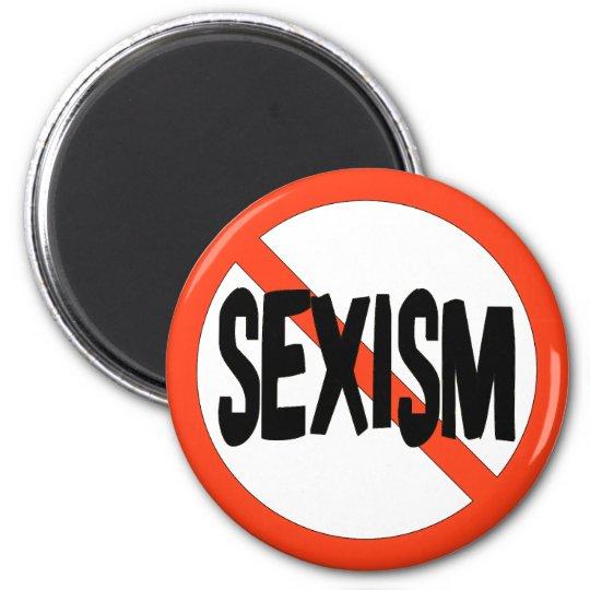 No Sexism 6 Cm Round Magnet