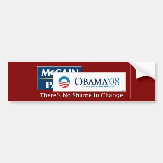 No Shame in Change Bumper Sticker