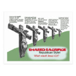 No Shared Sacrifice Postcards
