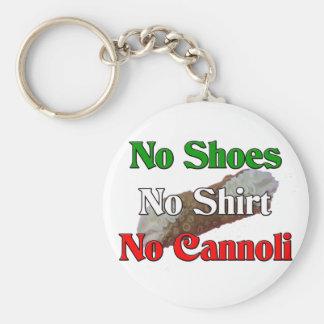 No Shoes No Shirt No Cannoli Basic Round Button Key Ring