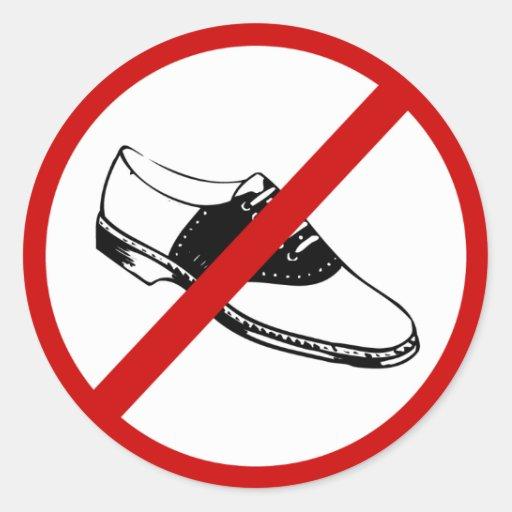 no-shoes sticker