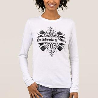 """No Shrinking Violet"" Wall Flower Motif by Aleta Long Sleeve T-Shirt"