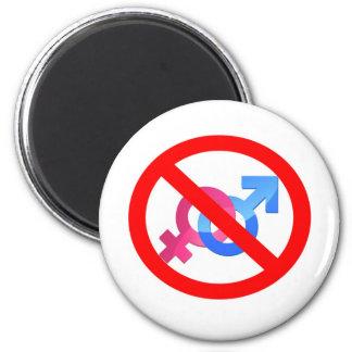 no sign/ pride 6 cm round magnet