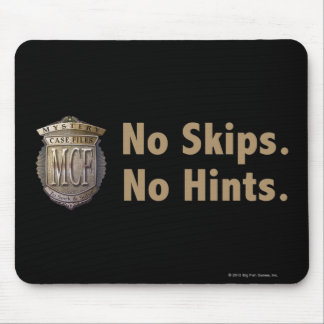 No Skips. No Hints. Gold Mouse Mat