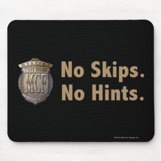 No Skips. No Hints. Gold Mouse Mat