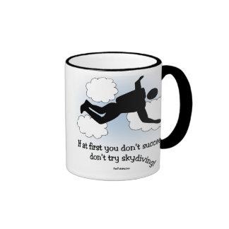 No Skydiving mug