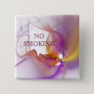 No smoking 15 cm square badge