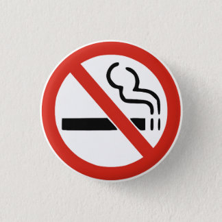 No Smoking 3 Cm Round Badge