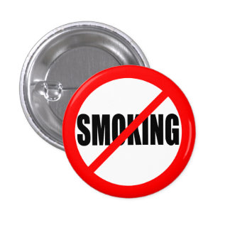 """NO SMOKING"" 3 CM ROUND BADGE"
