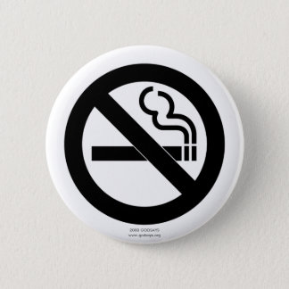 No Smoking 6 Cm Round Badge