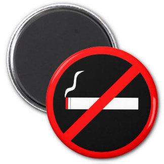 No Smoking 6 Cm Round Magnet