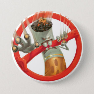 no smoking 7.5 cm round badge