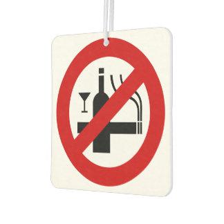 NO Smoking Alcohol ⚠ Thai Sign ⚠ Car Air Freshener