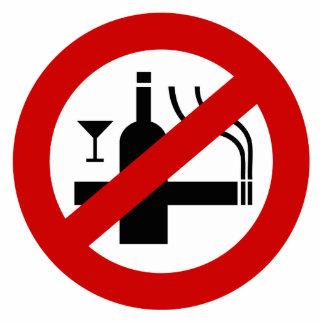 NO Smoking Alcohol ⚠ Thai Sign ⚠ Standing Photo Sculpture