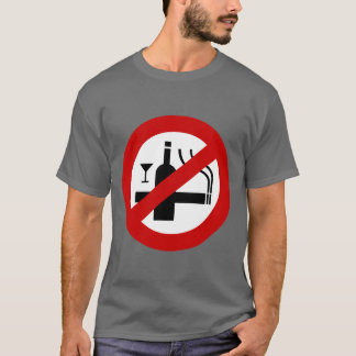 NO Smoking Alcohol ⚠ Thai Sign ⚠ T-Shirt