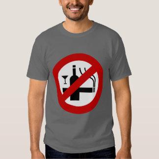 NO Smoking Alcohol ⚠ Thai Sign ⚠ Tees