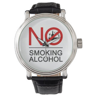 NO Smoking Alcohol ⚠ Thai Sign ⚠ Watch