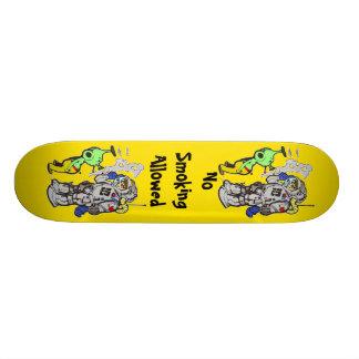 No Smoking Allowed 21.3 Cm Mini Skateboard Deck