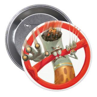 no smoking 7.5 cm round badge
