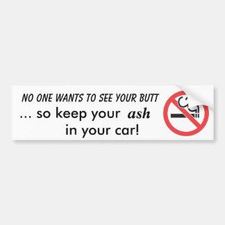 No Smoking Bumper Sticker