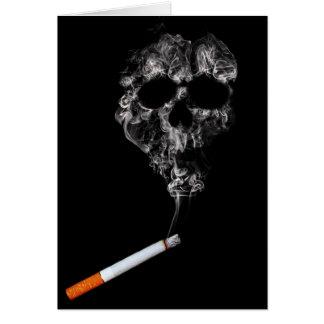 No Smoking Cigarette and Skull Greeting Card