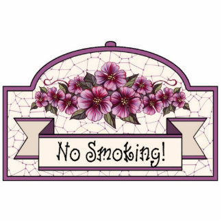 """No Smoking"" - Decorative Sign - 12 Photo Sculpture Decoration"
