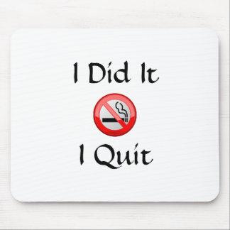 No Smoking I Quit Mouse Mat