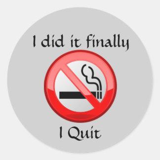 No Smoking I Quit Sticker