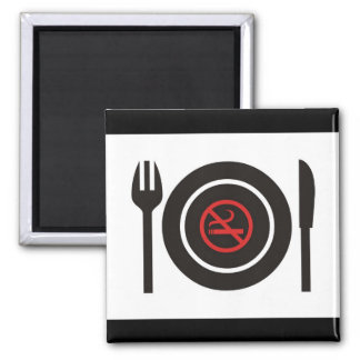 No Smoking In The Kitchen Square Magnet