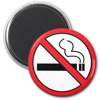 No smoking fridge magnets