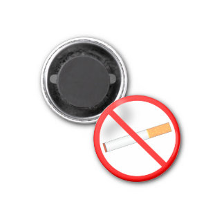 No Smoking 3 Cm Round Magnet