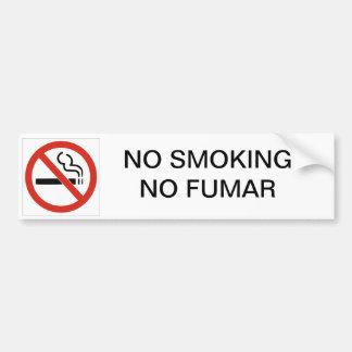 NO SMOKING NO FUMAR CAR BUMPER STICKER