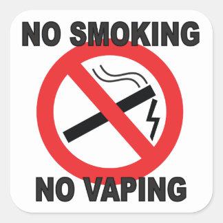 No Smoking No Vaping sign sticker