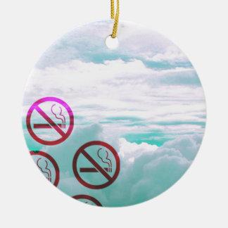 """""""No Smoking"""" Pastel Cascade Design Christmas Ornament"""