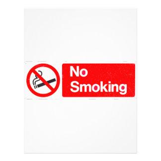 No Smoking Sign 21.5 Cm X 28 Cm Flyer