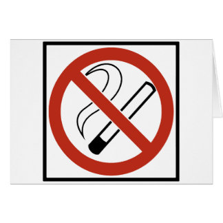 No Smoking Sign Card