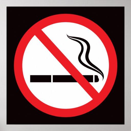 No smoking sign or symbol/anti smoking poster
