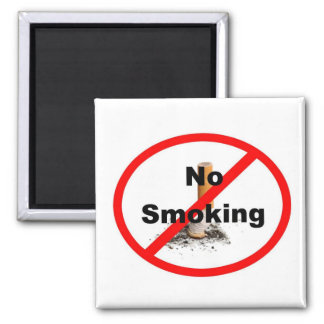 No Smoking Sign Square Magnet