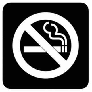 No Smoking Sign Standing Photo Sculpture